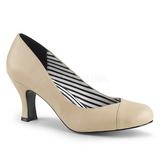 Beige Keinonahka 7,5 cm JENNA-01 suuret koot avokkaat kengät