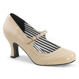 Beige Keinonahka 7,5 cm JENNA-06 suuret koot avokkaat kengät