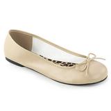 Beige Keinonahka ANNA-01 suuret koot ballerinat kengät