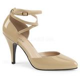 Beige Kiiltonahka 10 cm DREAM-408 suuret koot avokkaat kengät