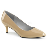 Beige Kiiltonahka 6,5 cm KITTEN-01 suuret koot avokkaat kengät