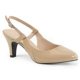 Beige Kiiltonahka 7,5 cm DIVINE-418 suuret koot avokkaat kengät