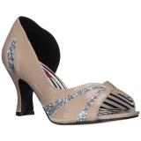 Beige Kiiltonahka 7,5 cm JENNA-03 suuret koot avokkaat kengät