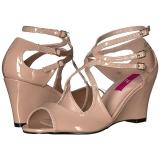 Beige Kiiltonahka 7,5 cm KIMBERLY-04 suuret koot sandaalit naisten