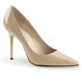 Beige Lak 10 cm CLASSIQUE-20 suuret koot stilettos kengät