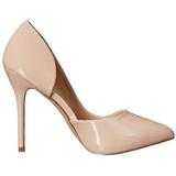 Beige Lakatut 13 cm AMUSE-22 klassiset avokkaat kengät naisten
