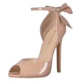 Beige Lakatut 13 cm SEXY-16 klassiset avokkaat kengät naisten