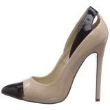 Beige Lakatut 13 cm SEXY-22 klassiset avokkaat kengät naisten