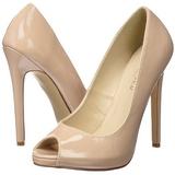 Beige Lakatut 13 cm SEXY-42 klassiset avokkaat kengät naisten