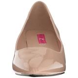 Beige Lakatut 5 cm FAB-420W Naisten kengät avokkaat