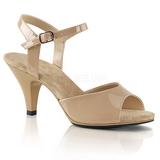 Beige Lakatut 8 cm BELLE-309 Naisten Sandaletit Korkea