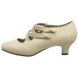 Beige Matta 5 cm retro vintage DAME-02 Naisten kengät avokkaat