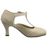 Beige Matta 7,5 cm FLAPPER-26 Pumps Naisten Kengät