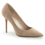 Beige Mokkanahka 10 cm CLASSIQUE-20 suuret koot stilettos kengät