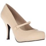 Beiget Keinonahka 11,5 cm PINUP-01 suuret koot avokkaat kengät