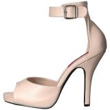 Beiget Keinonahka 12,5 cm EVE-02 suuret koot sandaalit naisten