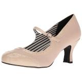 Beiget Keinonahka 7,5 cm JENNA-06 suuret koot avokkaat kengät