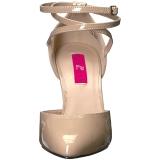 Beiget Kiiltonahka 10 cm DREAM-408 suuret koot avokkaat kengät