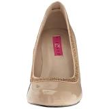 Beiget Kiiltonahka 10 cm QUEEN-04 suuret koot avokkaat kengät