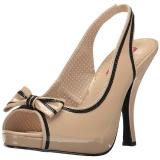Beiget Kiiltonahka 11,5 cm PINUP-10 suuret koot sandaalit naisten