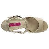 Beiget Kiiltonahka 12,5 cm EVE-02 suuret koot sandaalit naisten