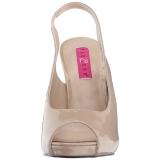 Beiget Kiiltonahka 12,5 cm EVE-04 suuret koot sandaalit naisten