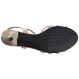 Beiget Kiiltonahka 6 cm KITTEN-06 suuret koot sandaalit naisten