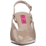 Beiget Kiiltonahka 7,5 cm DIVINE-418 suuret koot avokkaat kengät