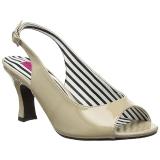 Beiget Kiiltonahka 7,5 cm JENNA-02 suuret koot sandaalit naisten