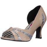 Beiget Kiiltonahka 7,5 cm JENNA-03 suuret koot avokkaat kengät