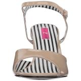 Beiget Kiiltonahka 7,5 cm JENNA-09 suuret koot sandaalit naisten