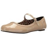 Beiget Kiiltonahka ANNA-02 suuret koot ballerinat kengät