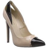 Beiget Lakatut 13 cm SEXY-22 klassiset avokkaat kengät naisten