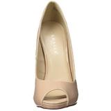 Beiget Lakatut 13 cm SEXY-42 klassiset avokkaat kengät naisten