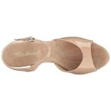 Beiget Lakatut 8 cm BELLE-309 Naisten Sandaletit Korkea