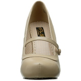 Beiget Matta 12 cm retro vintage CUTIEPIE-02 avokkaat mary jane kengät piilotettu platform