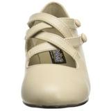 Beiget Matta 5 cm retro vintage DAME-02 Naisten kengät avokkaat