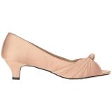 Beiget Satiini 5 cm FAB-422 suuret koot avokkaat kengät
