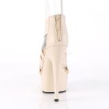 Beiget joustava nauha 15 cm DELIGHT-669 korokepohjaiset pleaser kengät