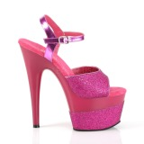 Fuksia 18 cm ADORE-709-2G kimallus platform sandaalit naisten