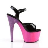 Fuksia 18 cm ADORE-709OMBRE kimallus platform sandaalit naisten