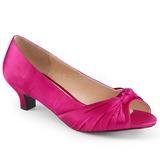 Fuksia Satiini 5 cm FAB-422 suuret koot avokkaat kengät