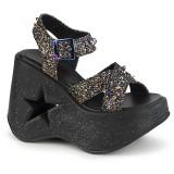 Glitter 13 cm Demonia DYNAMITE-02 lolita sandaalit kiilakorkosandaalit
