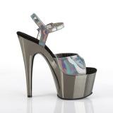 Harmaa 18 cm ADORE-709HGCH Hologrammi platform korkokengät naisten