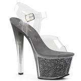 Harmaa 18 cm SKY-308G-T kimallus platform sandaalit naisten