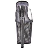 Harmaa strasseja 20 cm FLAMINGO-801SRS naisten puukengät platform