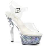 Hopea 15 cm KISS-208GF kimallus platform sandaalit naisten