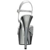 Hopea 15 cm Pleaser DELIGHT-609G Kromi Platform Korkosandaalit