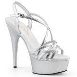 Hopea 15 cm Pleaser DELIGHT-613 Korkeakorkoiset platform sandaletit