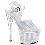 Hopea 18 cm SKY-308N-CRHM Hologrammi platform korkokengät naisten
